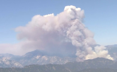 Cabin Fire Angeles National Forest 8/15/2015